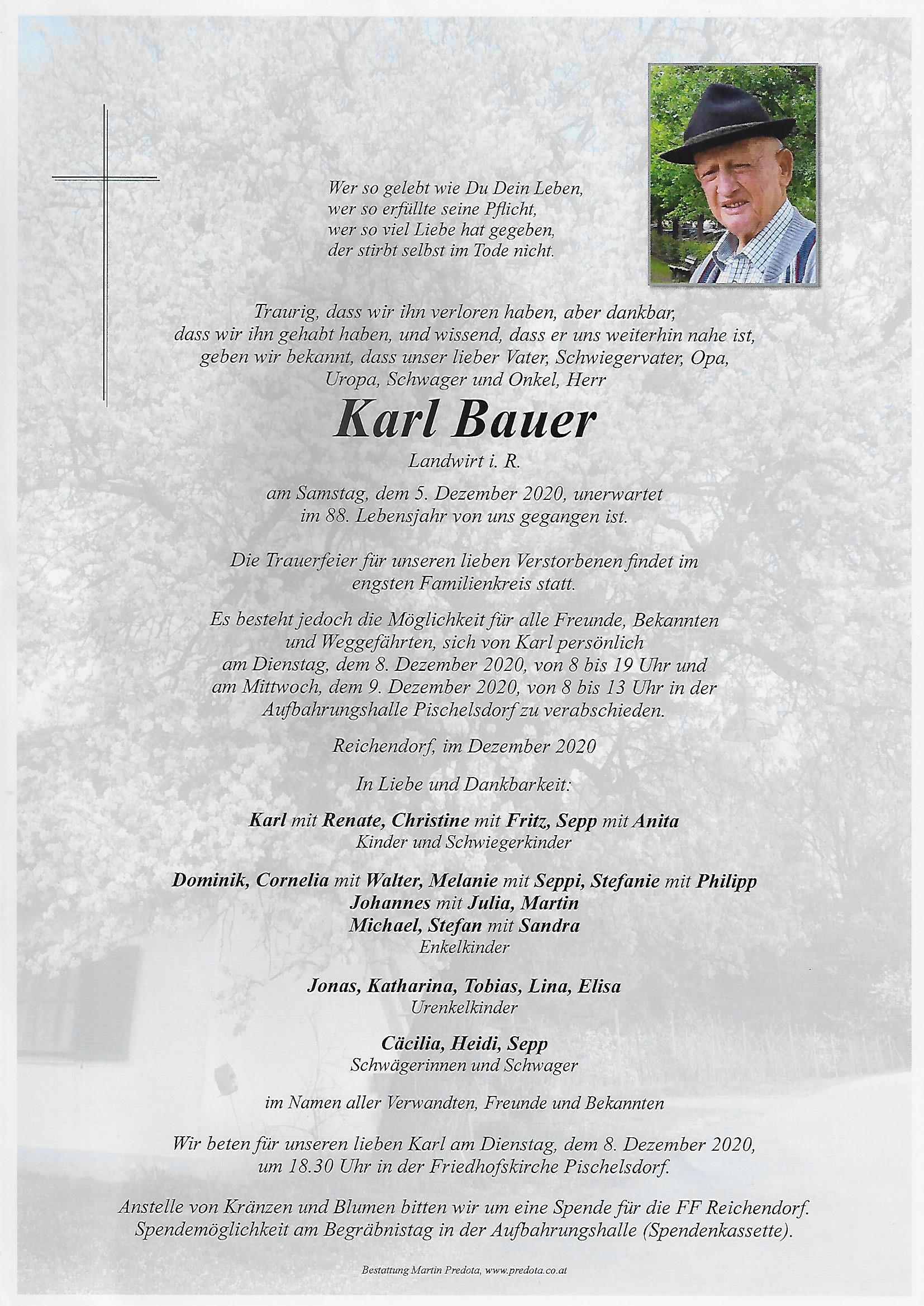 Nachruf HFM Bauer Karl sen.