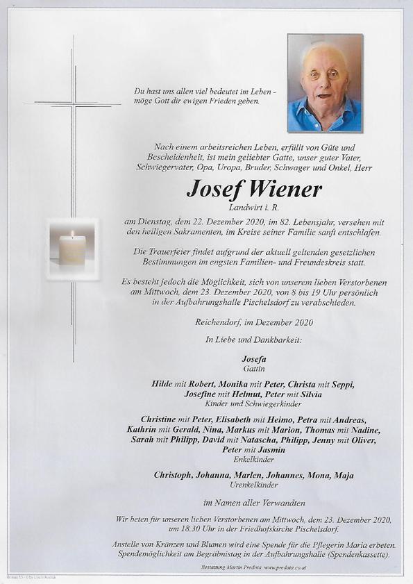Nachruf HFM Wiener Josef
