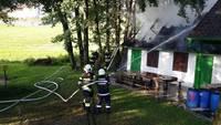 Brand beim Presshaus in Reichendorf