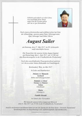 Nachruf HFM August Sailer