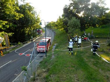 Gemeinschaftsübung der Gemeindefeuerwehren Pischelsdorf am Kulm