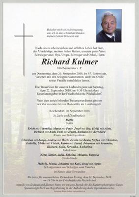 Nachruf E-HLM Richard Kulmer sen.
