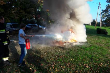 Feuerlöscherüberprüfung & Entstehungsbrandbekämpfung